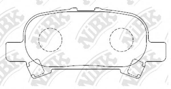 Комплект тормозных колодок, дисковый тормоз NIBK PN0427