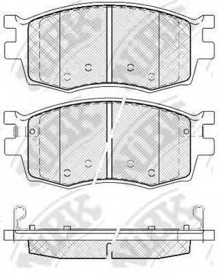 Комплект тормозных колодок, дисковый тормоз NIBK PN0435