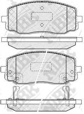 Комплект тормозных колодок, дисковый тормоз NIBK PN0438