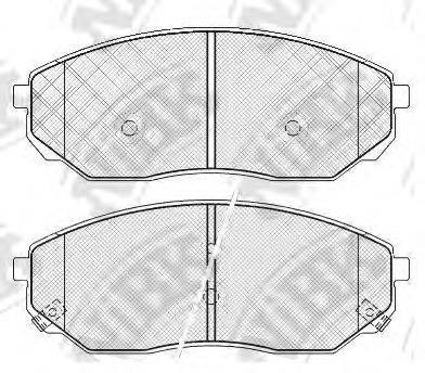 Комплект тормозных колодок, дисковый тормоз NIBK PN0441