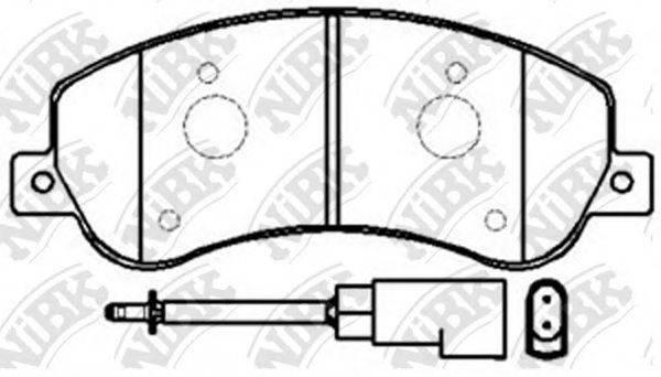 Комплект тормозных колодок, дисковый тормоз NIBK PN0444W