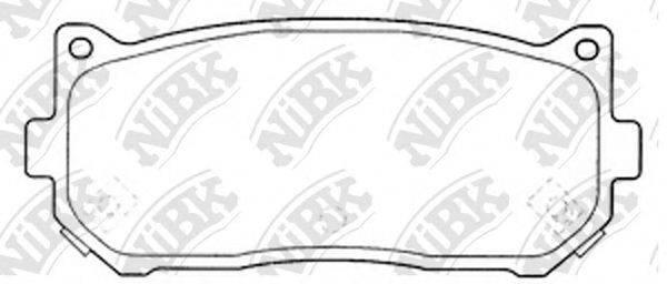 Комплект тормозных колодок, дисковый тормоз NIBK PN0528