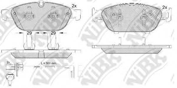Комплект тормозных колодок, дисковый тормоз NIBK PN0556W