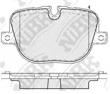 Комплект тормозных колодок, дисковый тормоз NIBK PN0566
