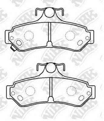 Комплект тормозных колодок, дисковый тормоз NIBK PN0829