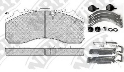 Комплект тормозных колодок, дисковый тормоз NIBK PN0908