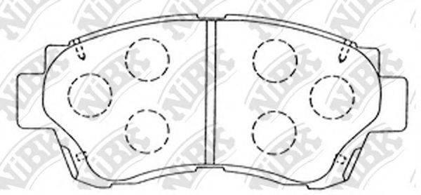 Комплект тормозных колодок, дисковый тормоз NIBK PN1228
