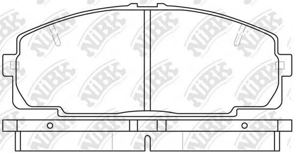 Комплект тормозных колодок, дисковый тормоз NIBK PN1237