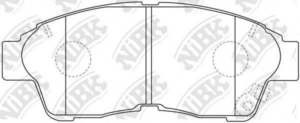 Комплект тормозных колодок, дисковый тормоз NIBK PN1322