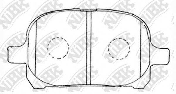 Комплект тормозных колодок, дисковый тормоз NIBK PN1401