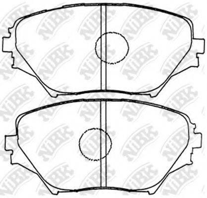 Комплект тормозных колодок, дисковый тормоз NIBK PN1447