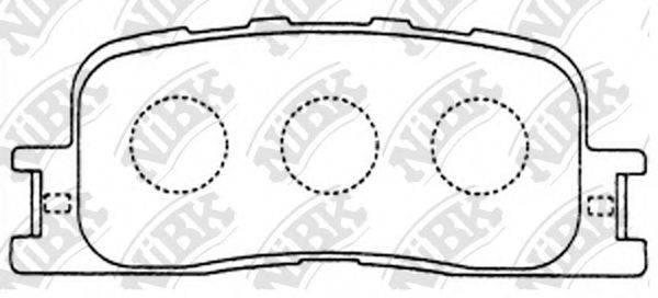 Комплект тормозных колодок, дисковый тормоз NIBK PN1458