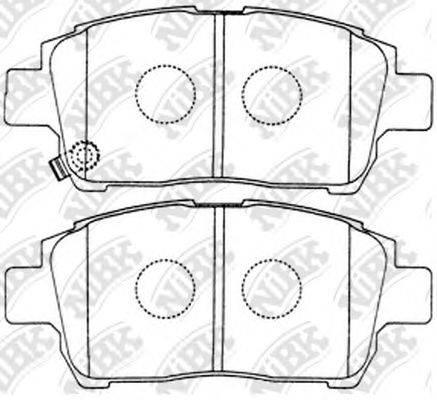 Комплект тормозных колодок, дисковый тормоз NIBK PN1472
