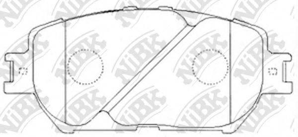 Комплект тормозных колодок, дисковый тормоз NIBK PN1479