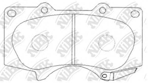 Комплект тормозных колодок, дисковый тормоз NIBK PN1482