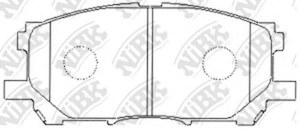 Комплект тормозных колодок, дисковый тормоз NIBK PN1497