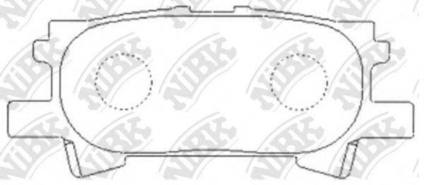 Комплект тормозных колодок, дисковый тормоз NIBK PN1498