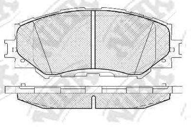 Комплект тормозных колодок, дисковый тормоз NIBK PN1524
