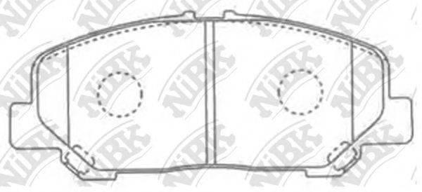 Комплект тормозных колодок, дисковый тормоз NIBK PN1527