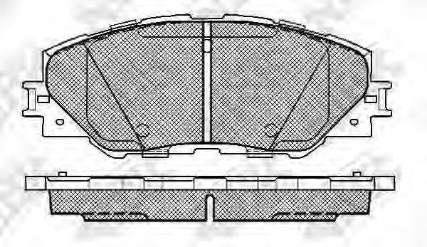 Комплект тормозных колодок, дисковый тормоз NIBK PN1530