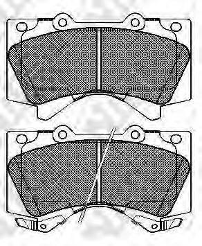 Комплект тормозных колодок, дисковый тормоз NIBK PN1541