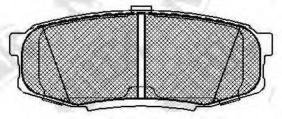Комплект тормозных колодок, дисковый тормоз NIBK PN1542