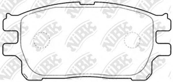 Комплект тормозных колодок, дисковый тормоз NIBK PN1784