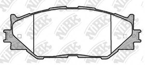 Комплект тормозных колодок, дисковый тормоз NIBK PN1829