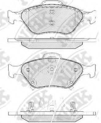 Комплект тормозных колодок, дисковый тормоз NIBK PN1839