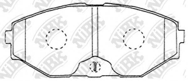Комплект тормозных колодок, дисковый тормоз NIBK PN2261