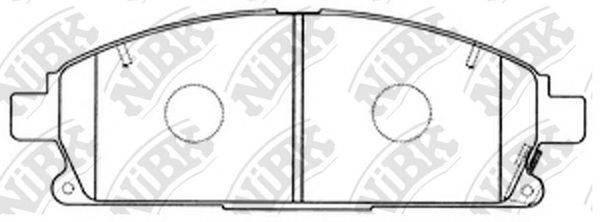 Комплект тормозных колодок, дисковый тормоз NIBK PN2389