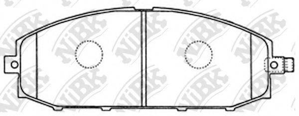 Комплект тормозных колодок, дисковый тормоз NIBK PN2413