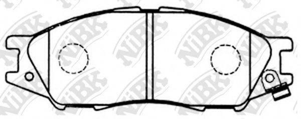 Комплект тормозных колодок, дисковый тормоз NIBK PN2435
