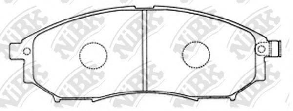 Комплект тормозных колодок, дисковый тормоз NIBK PN2444