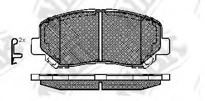 Комплект тормозных колодок, дисковый тормоз NIBK PN25000