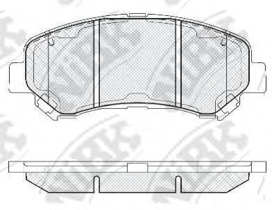 Комплект тормозных колодок, дисковый тормоз NIBK PN2801