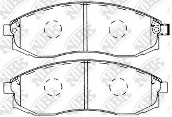 Комплект тормозных колодок, дисковый тормоз NIBK PN2824