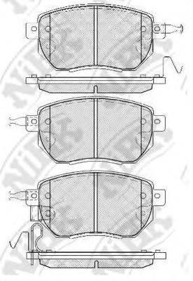 Комплект тормозных колодок, дисковый тормоз NIBK PN2901