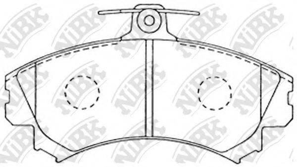 Комплект тормозных колодок, дисковый тормоз NIBK PN3090