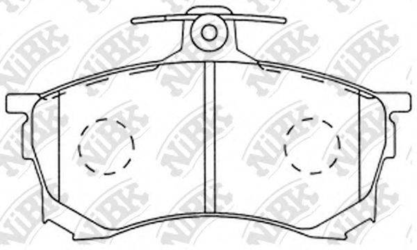 Комплект тормозных колодок, дисковый тормоз NIBK PN3102
