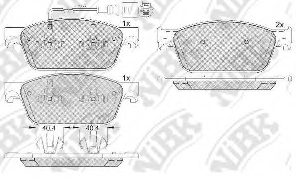 Комплект тормозных колодок, дисковый тормоз NIBK PN33001W