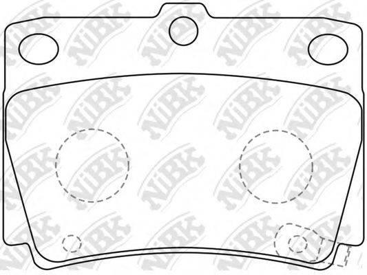 Комплект тормозных колодок, дисковый тормоз NIBK PN3391