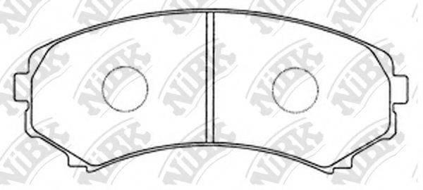 Комплект тормозных колодок, дисковый тормоз NIBK PN3414