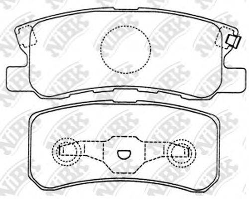 Комплект тормозных колодок, дисковый тормоз NIBK PN3450