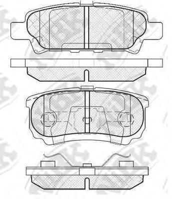 Комплект тормозных колодок, дисковый тормоз NIBK PN3502