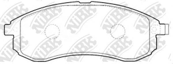 Комплект тормозных колодок, дисковый тормоз NIBK PN3808
