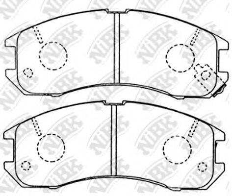 Комплект тормозных колодок, дисковый тормоз NIBK PN5194