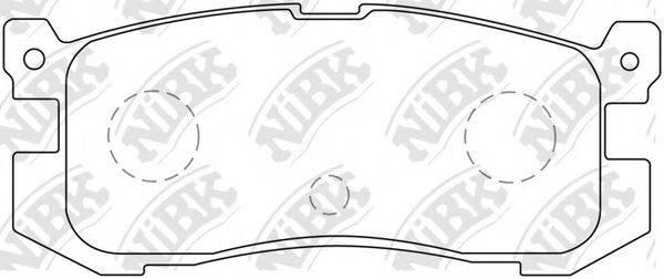 Комплект тормозных колодок, дисковый тормоз NIBK PN5195