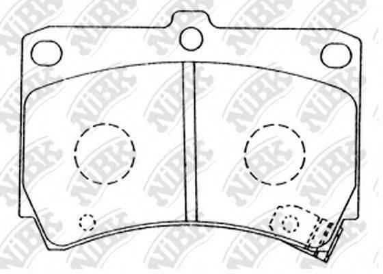 Комплект тормозных колодок, дисковый тормоз NIBK PN5232