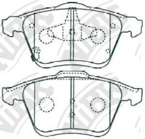 Комплект тормозных колодок, дисковый тормоз NIBK PN5802